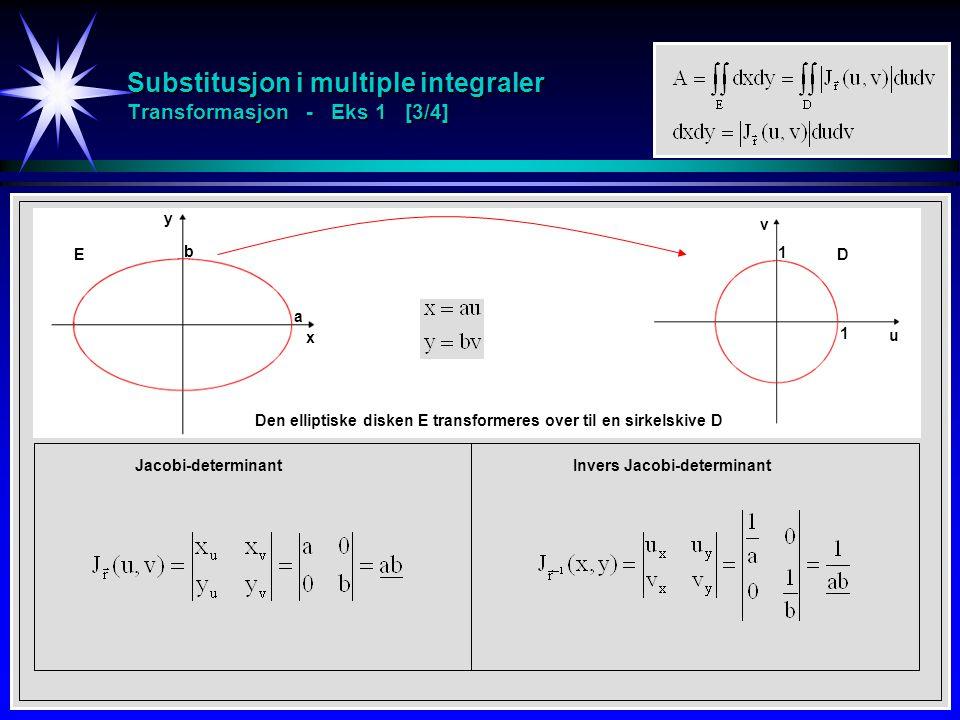 Substitusjon i multiple integraler Transformasjon - Eks 1 [3/4]